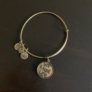 """Live a happy life"" Alex and ani bracelet"